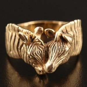 Limited Edition (15/300) Gayle Bright Zebra Ring